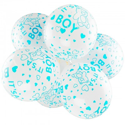 It's a Boy Printed Latex Balloons - 10 Pack