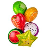 Giant Fruits Foil Balloons - 6 Pack