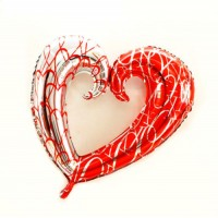 Giant Heart Foil Balloon - 34 Inches