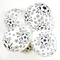 Football Printed Latex Balloons - 10 Pack